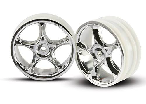 Traxxas 2473 Tracer Front Wheels - Chrome