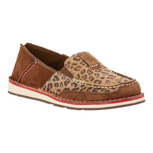 Ariat Women's Cruiser Shoe - Dark Earth and Cheetah, 7.5 USW