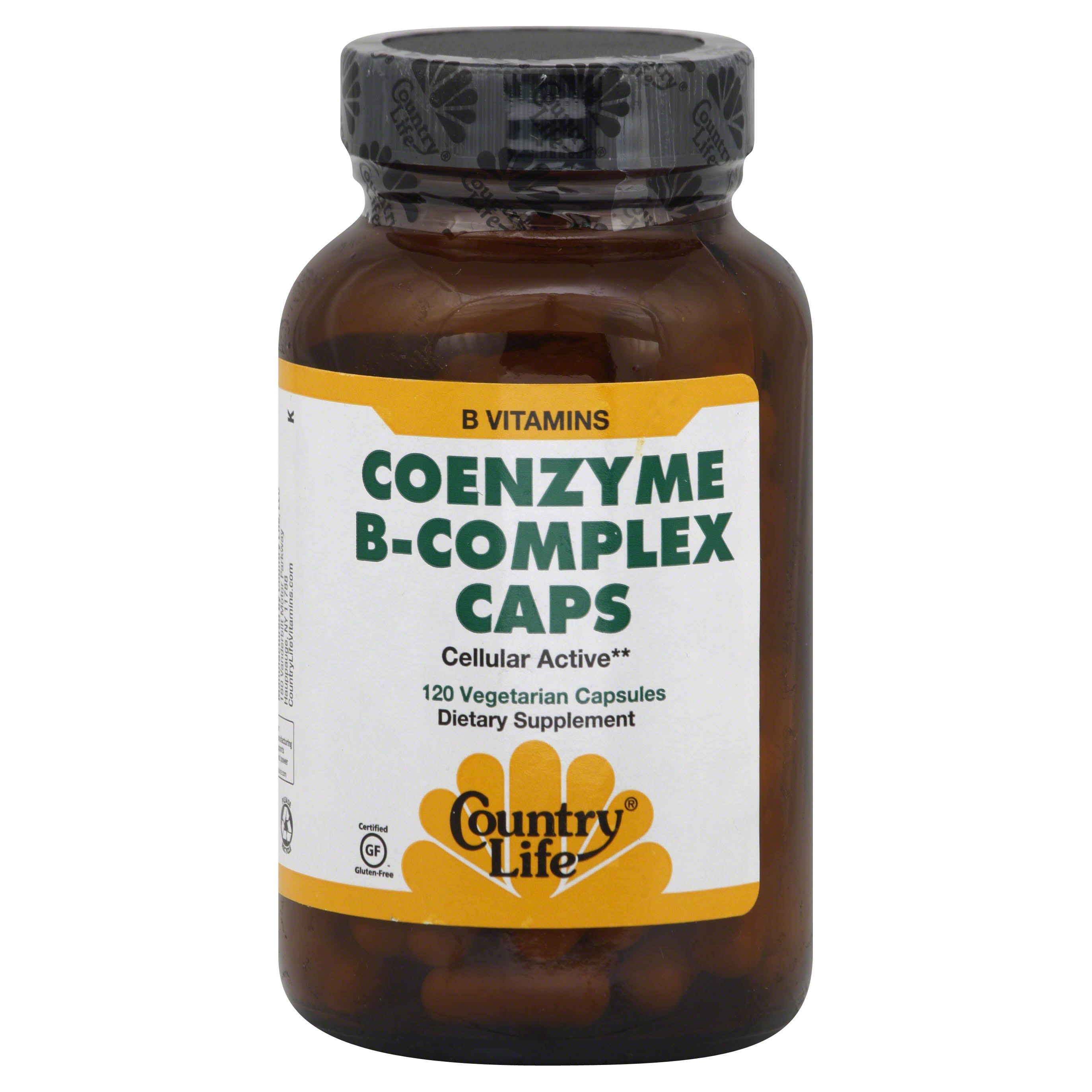 Country Life CoEnzyme B-Complex Caps - 120 Vegetarian Capsules