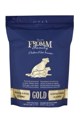 Fromm Gold Reduced Activity & Senior Dog Food 5lbs.