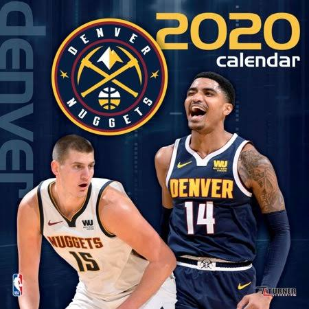 Turner Licensing, 2020 Denver Nuggets Team Wall Calendar, See Package
