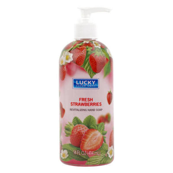 Lucky Super Soft Hand Soap - Fresh Strawberries, 14oz