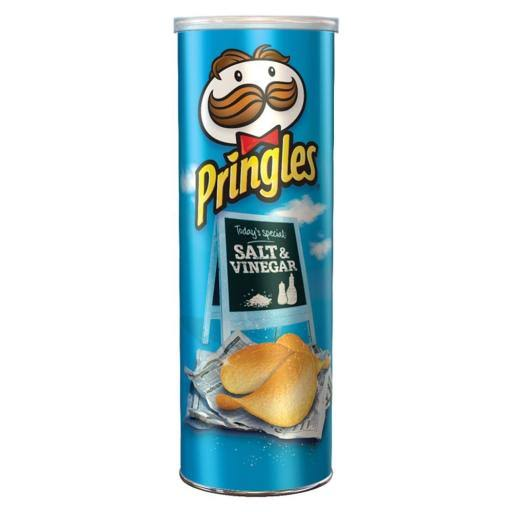 Pringles Salt and Vinegar Crisps - 200g