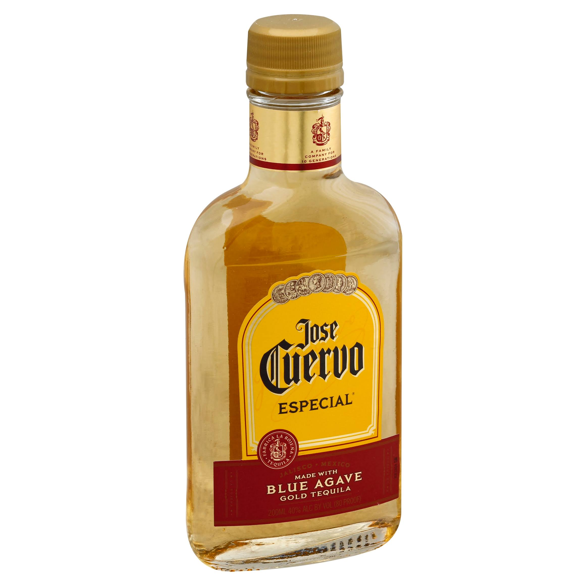 Jose Cuervo Especial Tequila, Gold - 200 ml