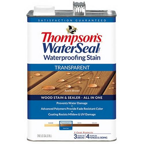 Thompson's WaterSeal Transparent Waterproofing Stain - Acorn Brown