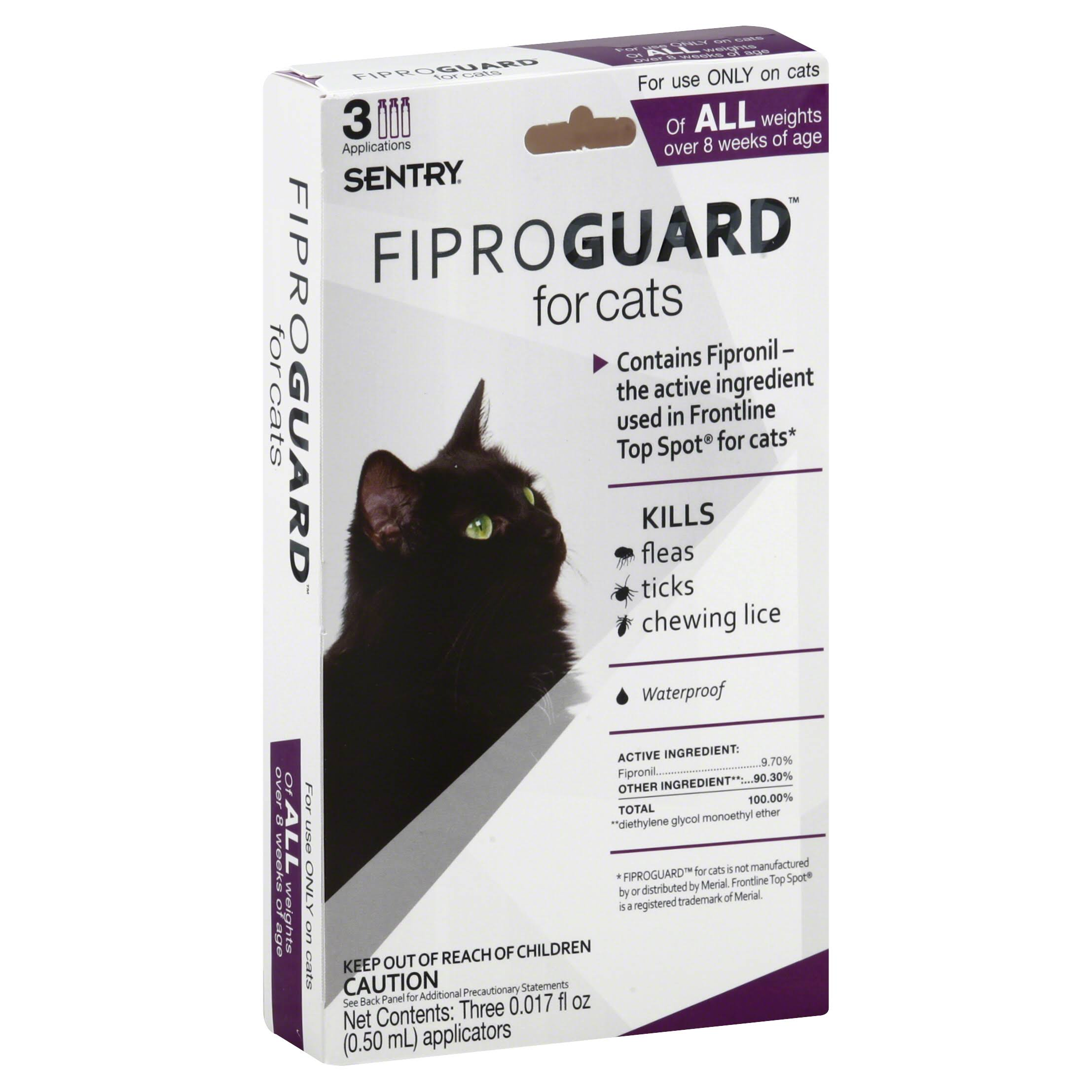 Sentry Fiproguard Flea and Tick Topical Drops for Cats