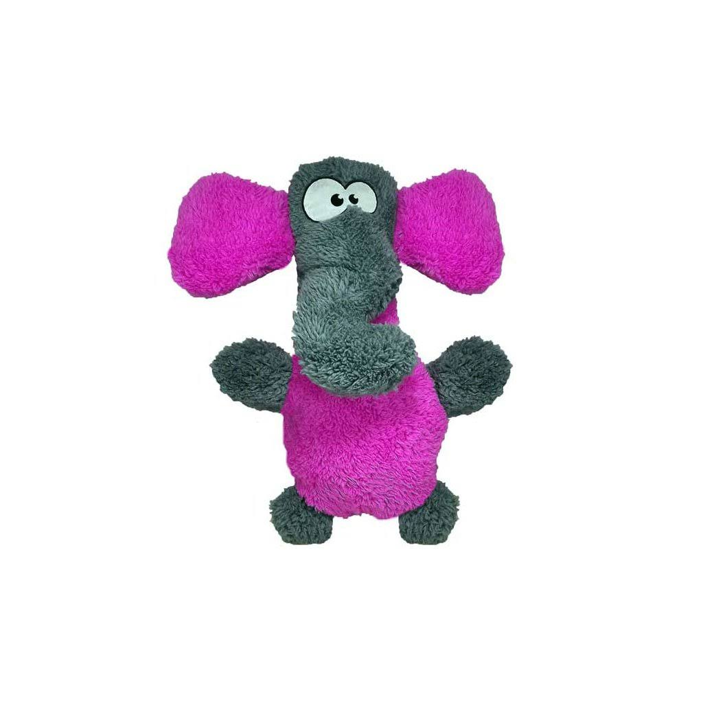 Cycle Dog Recycled Fuzzy Elephant Toy