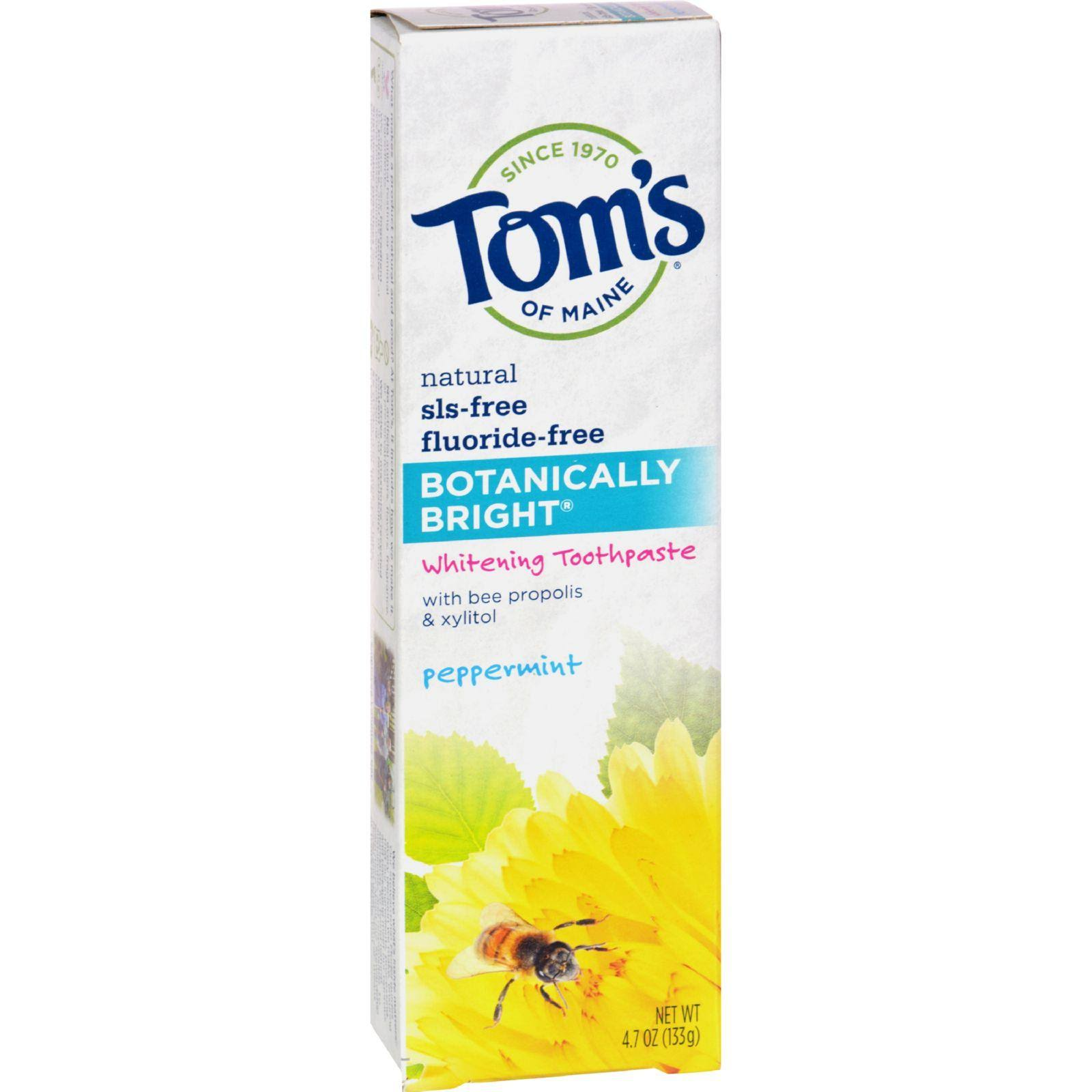 Toms of Main Botanically Bright Whitening Toothpaste - Peppermint, 4.7oz