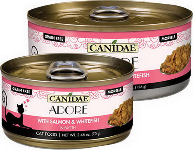 Canidae Adore Morsels Wet Cat Food - Natural, Grain Free Size: 2.46 oz, copper/gum/salmon, Salmon & Whitefish, Adult