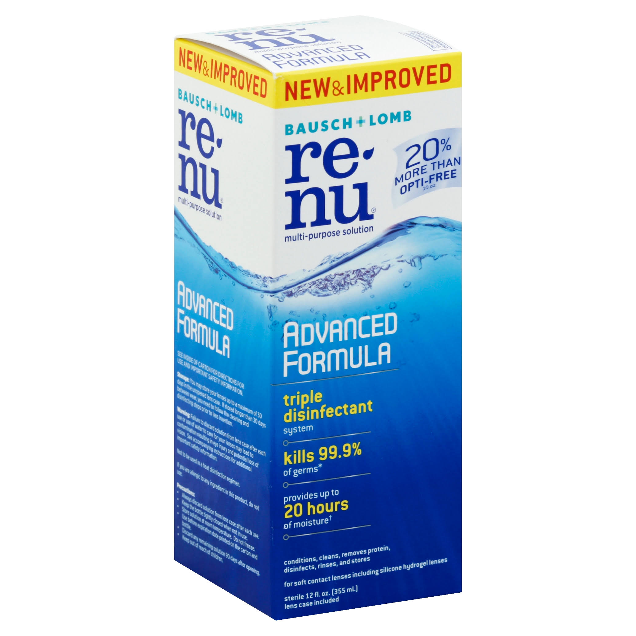 Bausch + Lomb ReNu Advanced Triple Disinfect Formula Eye Solution - 12oz