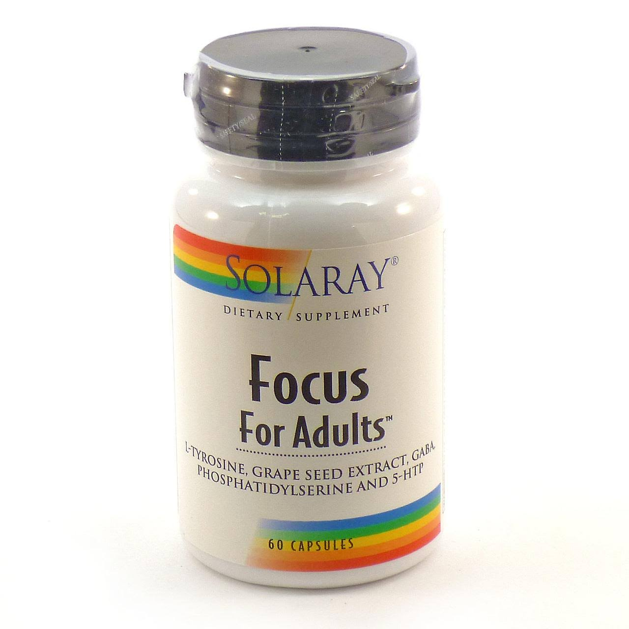 Solaray Focus for Adults Supplement - 60 Veg Caps