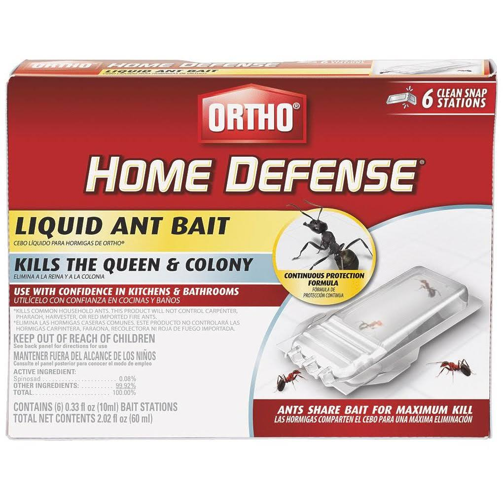 Ortho 0464812 Home Defense Liquid Ant Bait - 6pc