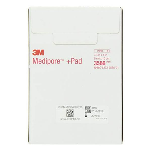3M Medipore Wound Dressing Pad - Soft Cloth Adhesive, 25 Pads