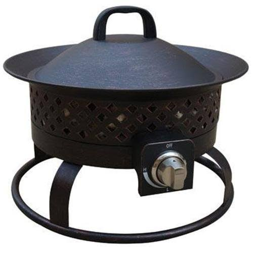 Bond Aurora Steel Gas Firebowl - Black Metal