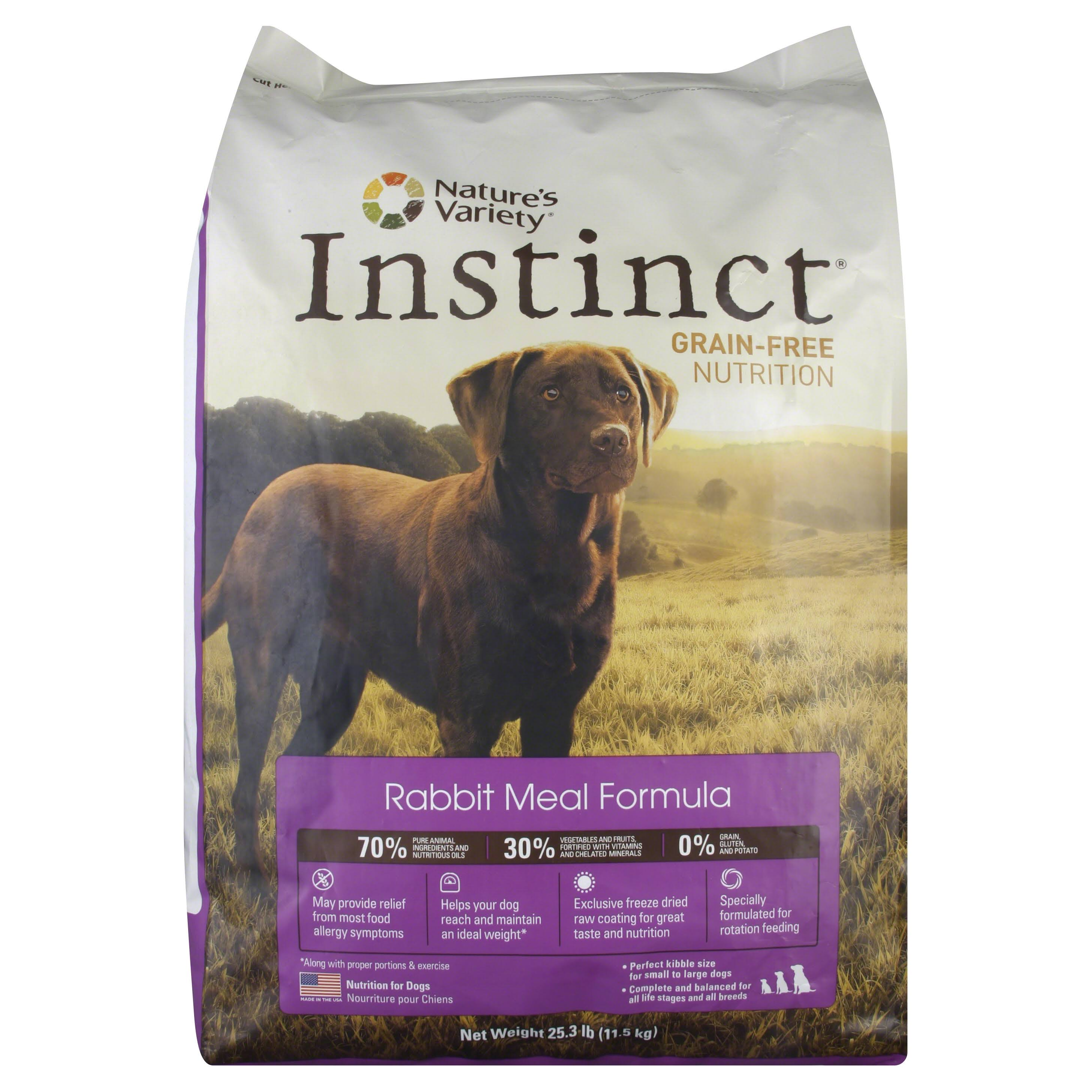 Nature's Variety Instinct Grain-Free Dry Dog Food - Rabbit, 25.3lb
