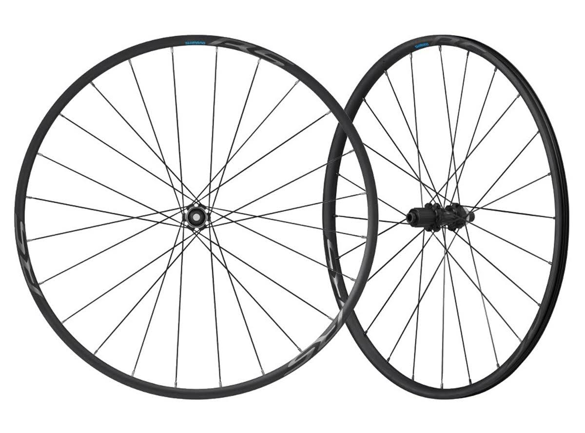 Shimano Tubeless Road Bicycle Wheelset - Black, 12mm E-Thru