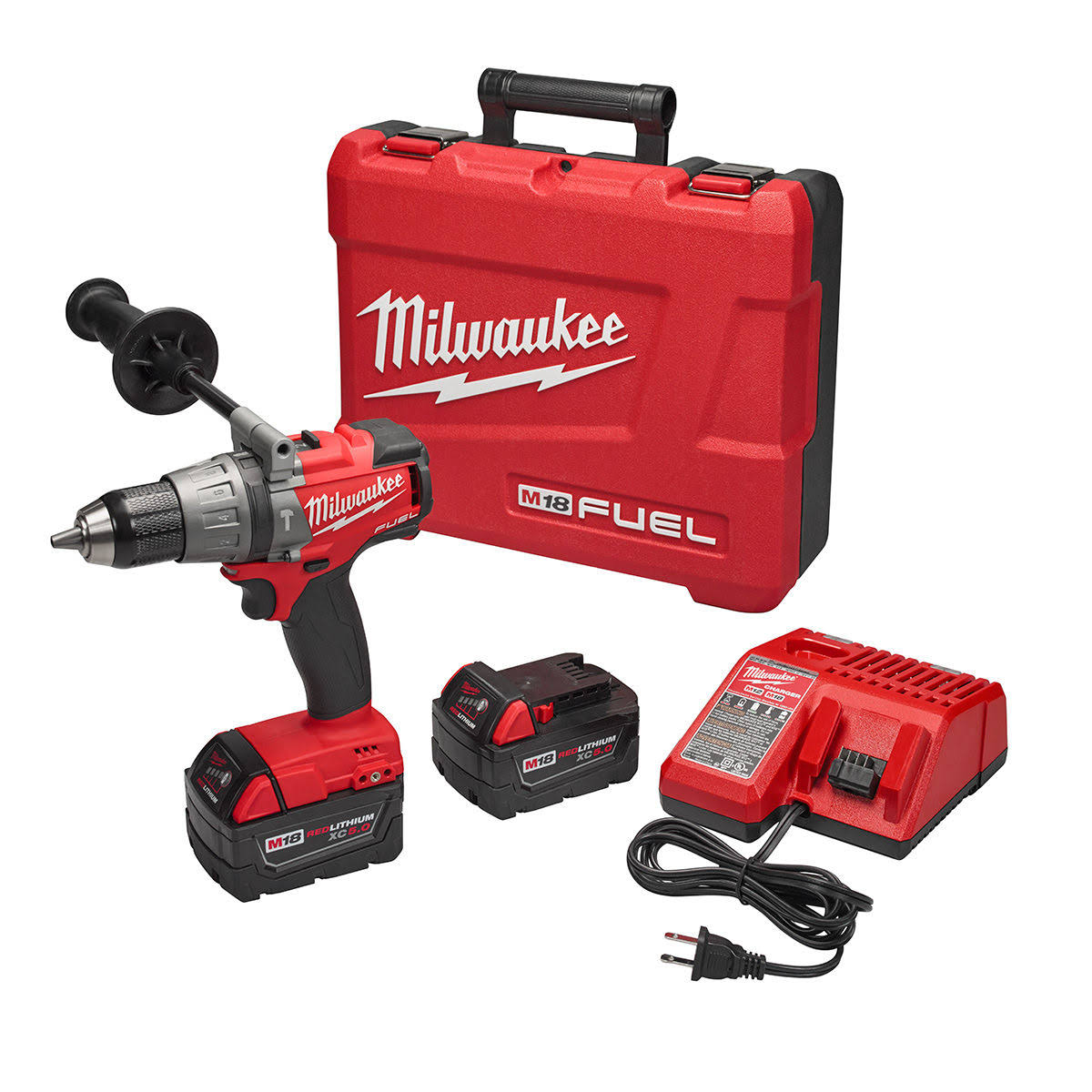 Milwaukee 2704-22 M18 Fuel Hammer Drill Driver Kit
