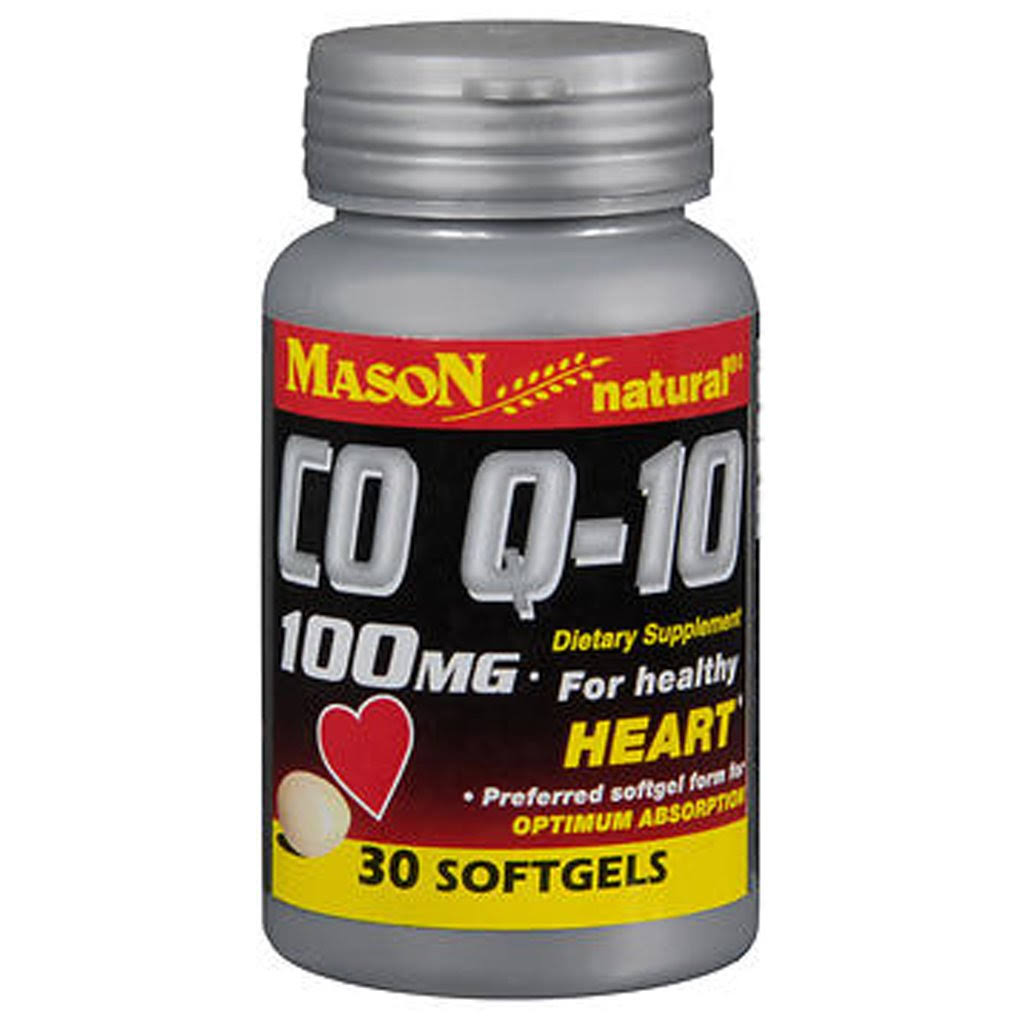 Mason Natural CO Q-10 Supplement - 30 Softgels, 100mg