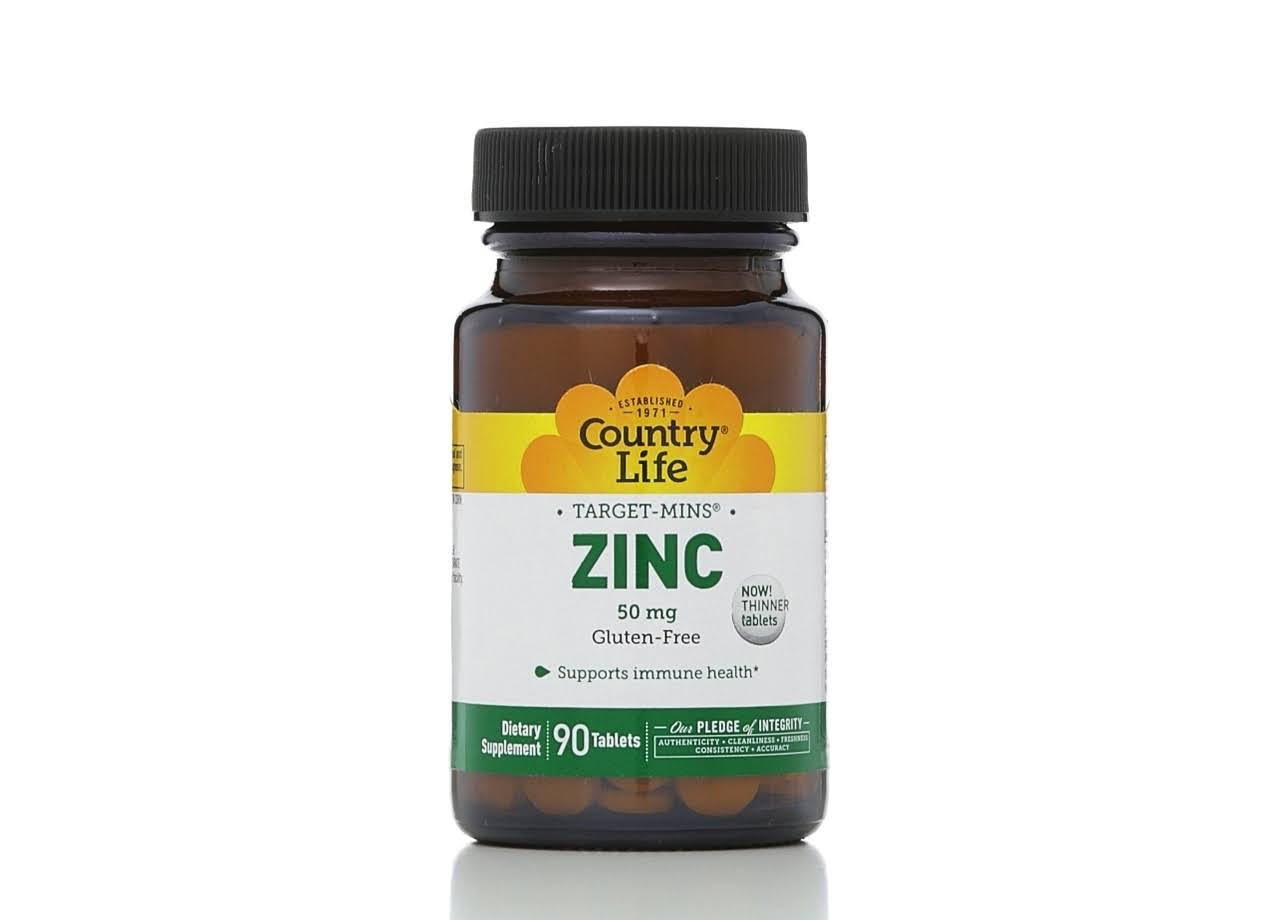 Country Life Target Mins Zinc - 90 tablets