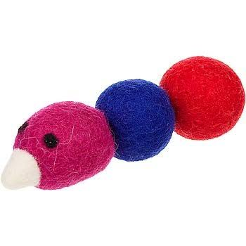 "One Pet Planet Wooly Fun Caterpillar Cat Toy, 4.5"" L x 1"" W"
