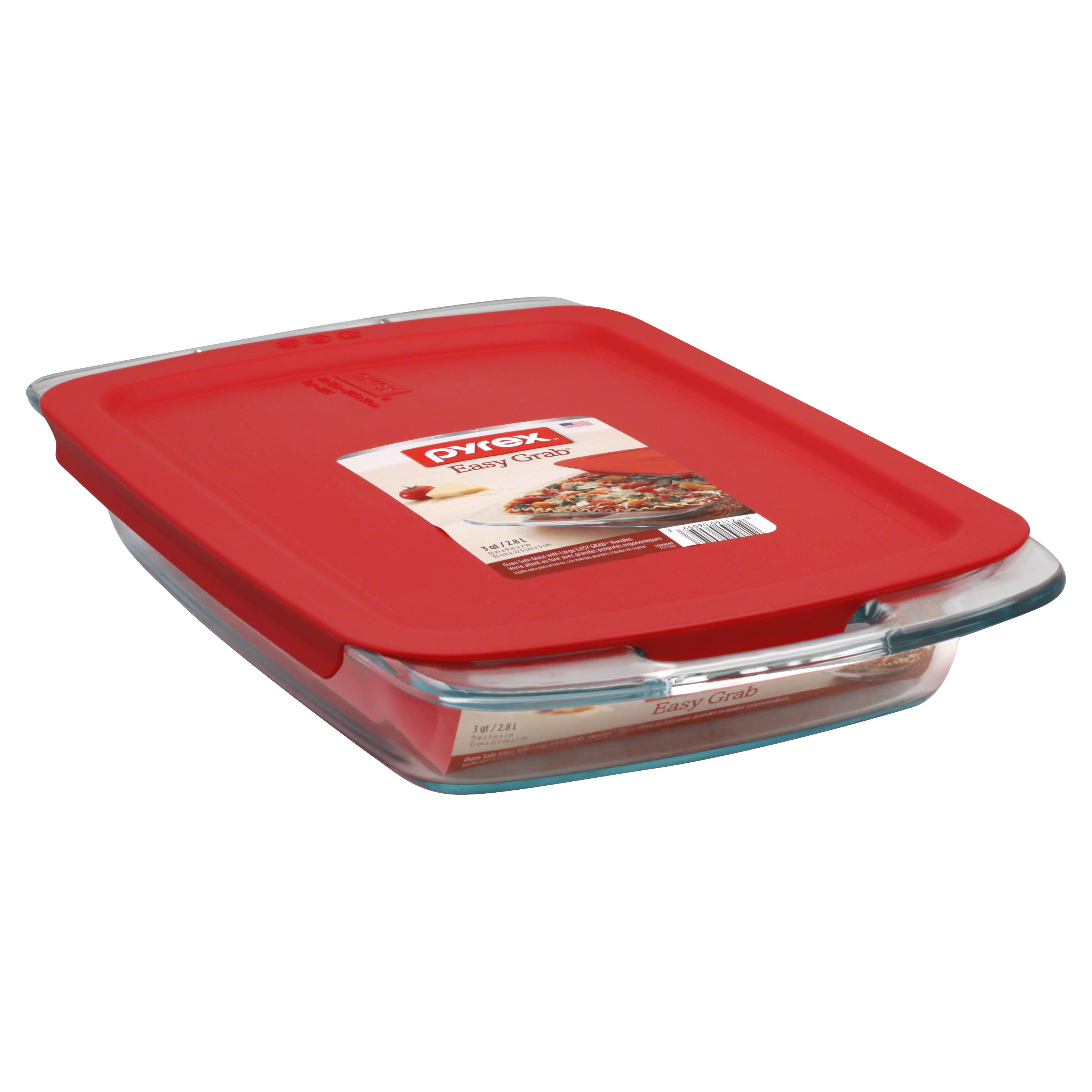 Pyrex Easy Grab Oblong Baking Dish - 3qt