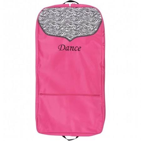 Sassi Designs Garment Bag - Hot Pink with Zebra Trim
