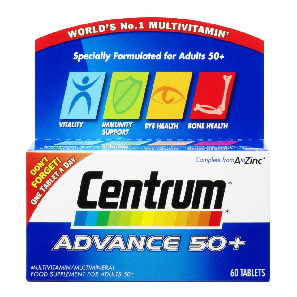 Centrum Advance 50+ Multivitamin Tablets - x60