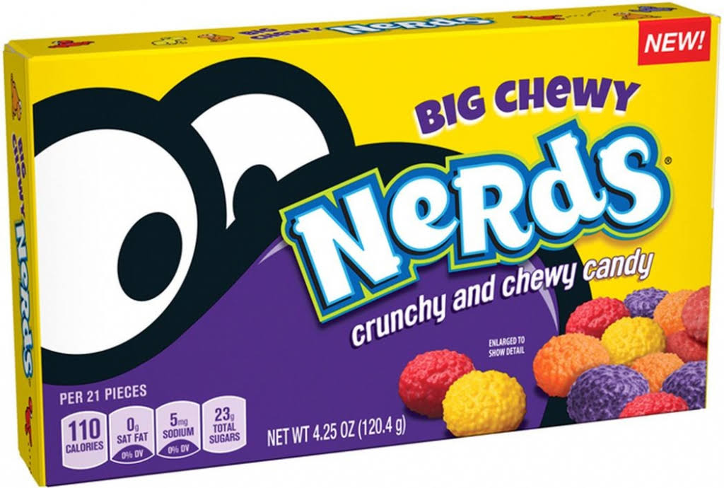 Nerds Big Chewy Candy, Crunchy and Chewy - 4.25 oz