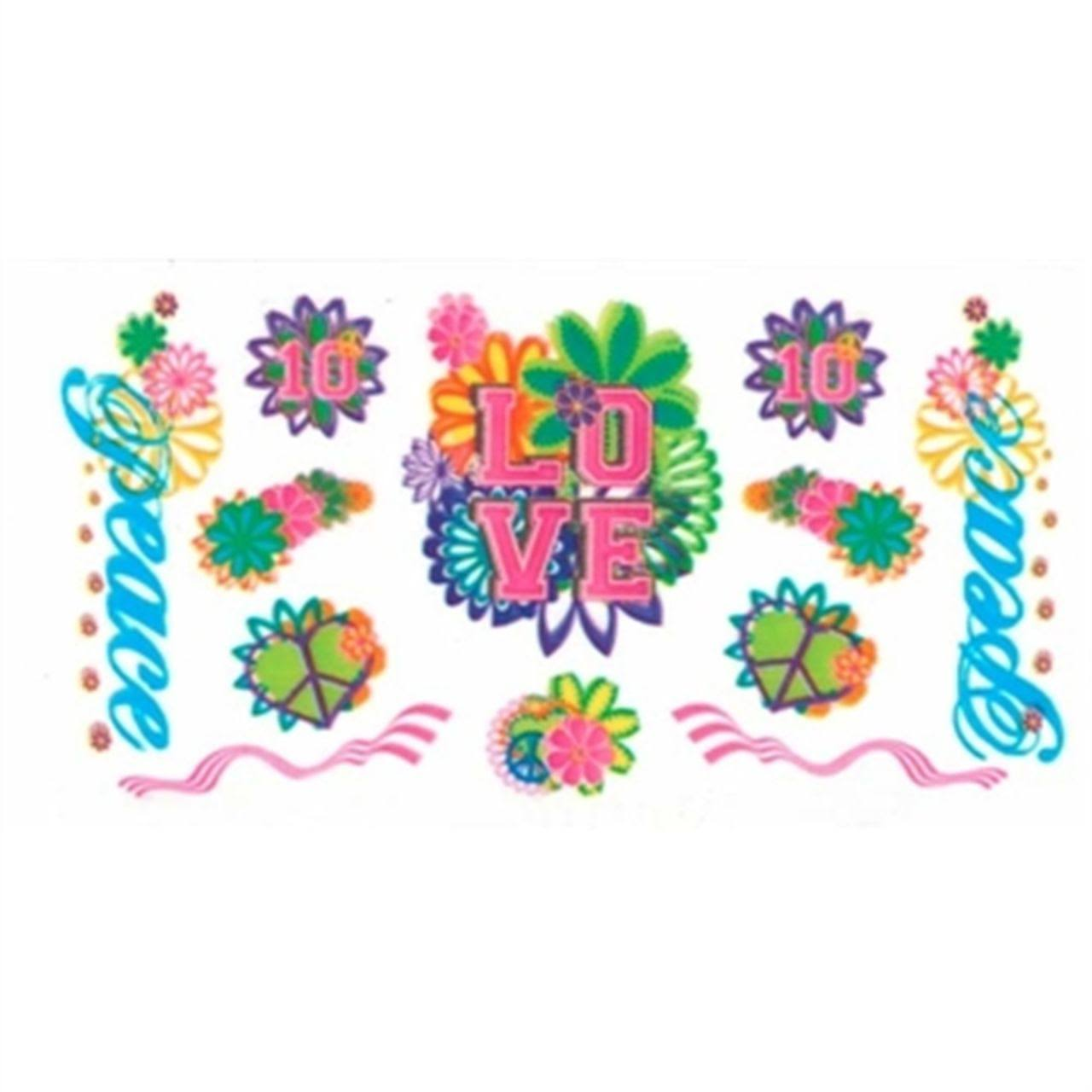 Pinecar Peace and Love Dry Transfer Decals