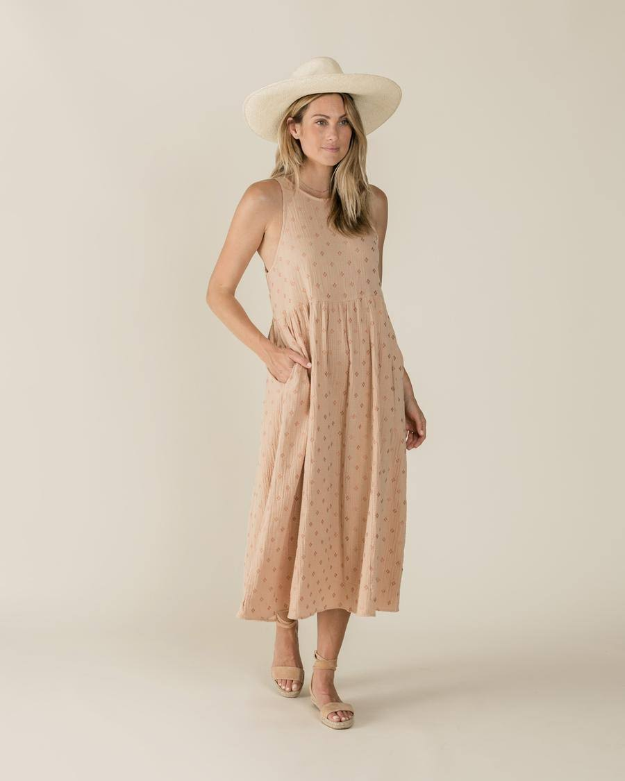 Rylee & Cru Women's Zoe Maxi Dress – Blush (M)