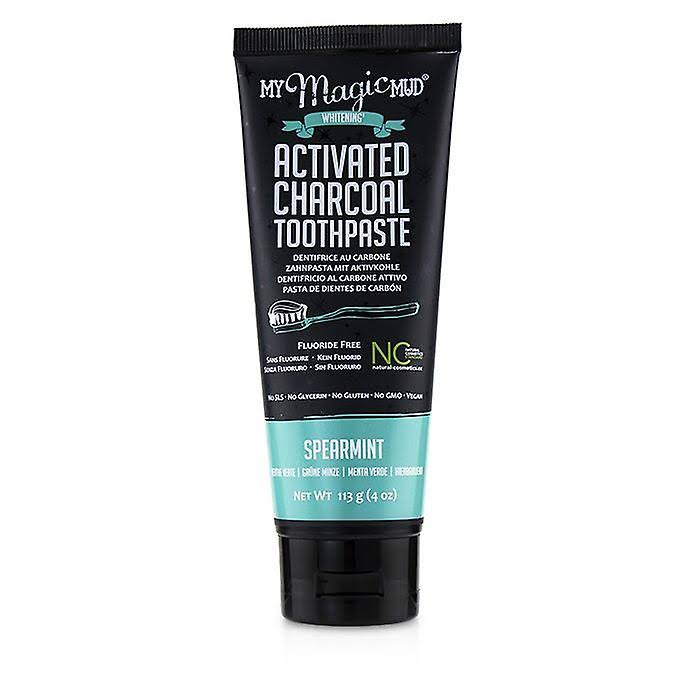 My Magic Mud Activated Charcoal Whitening Toothpaste - Spearmint, 113g