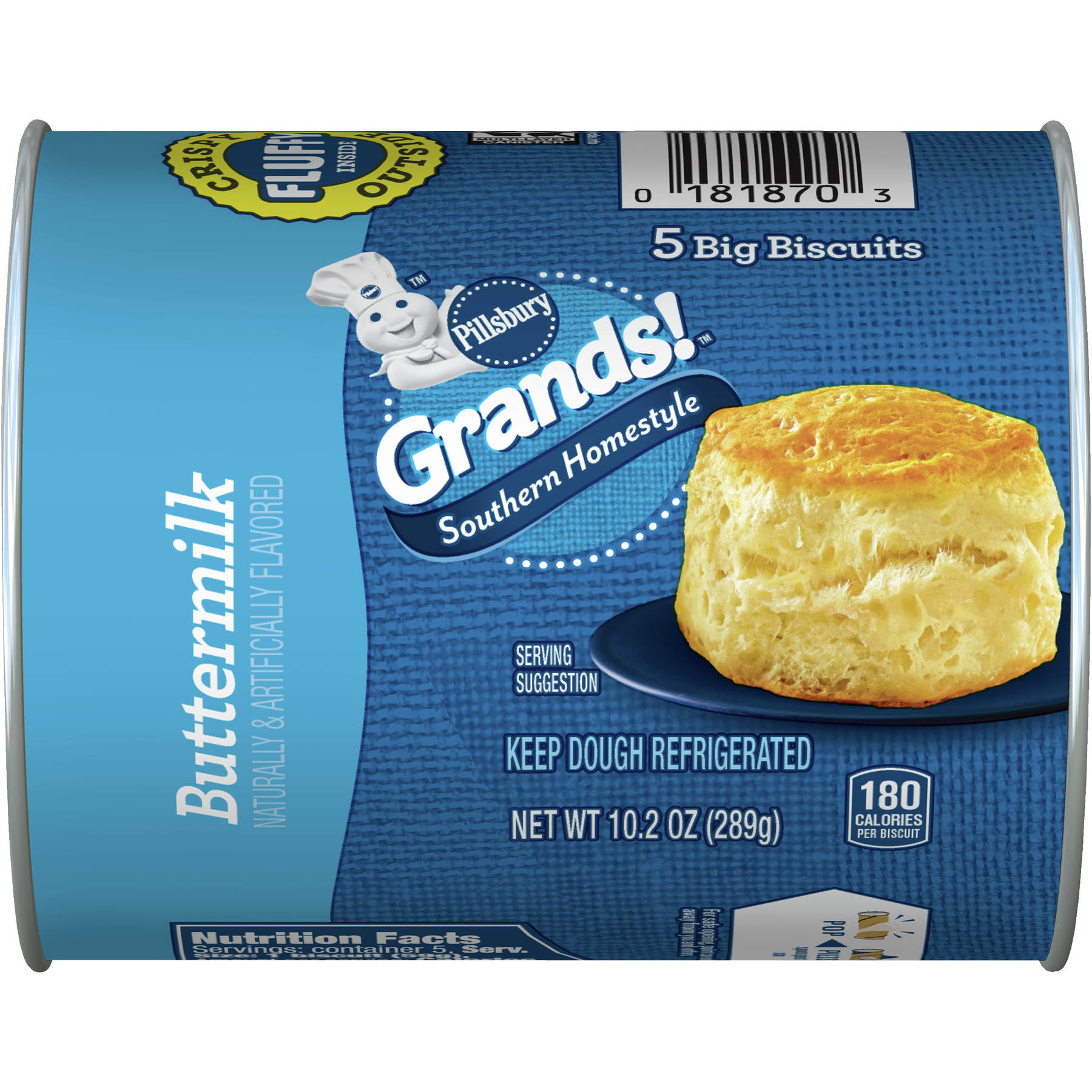 Pillsbury Grands Southern Homestyle Big Biscuits Dough - Buttermilk, 289g, 5 Big Biscuiits