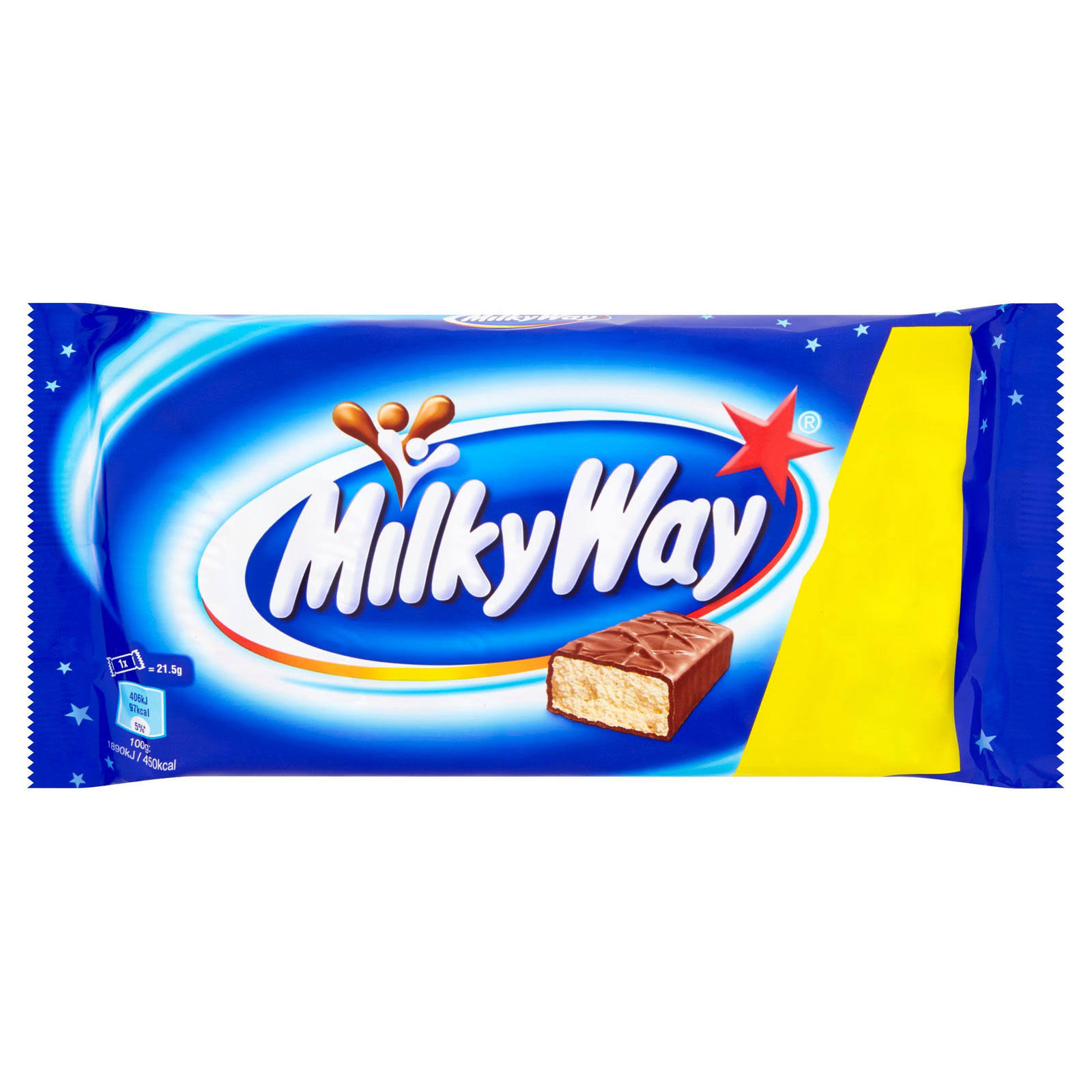 Milkway Multipack Chocolate Bars - 6pc, 21.5g