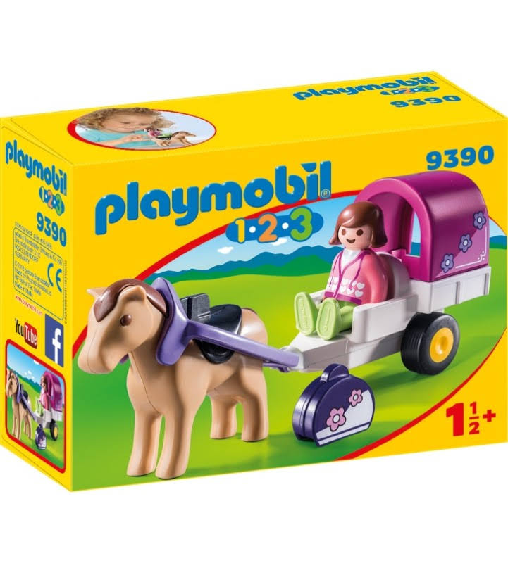 Playmobil 123 Horse Drawn Carriage Playset