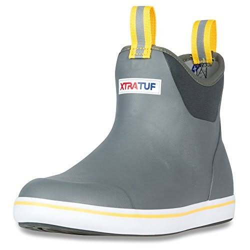 "Xtratuf Performance Series Men's Ankle Deck Boots - 6"", Gray & Yellow"