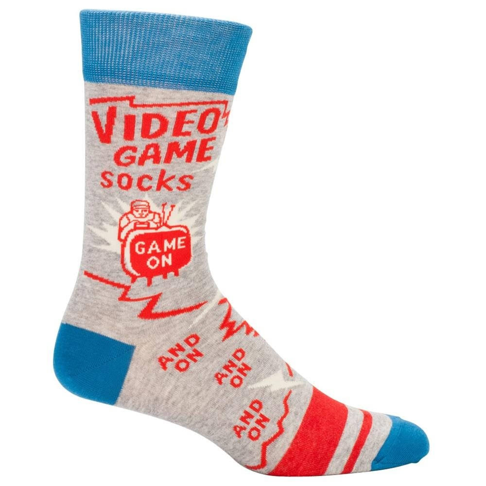 Blue Q Mens Novelty Crew Socks - Video Game Socks, One Size