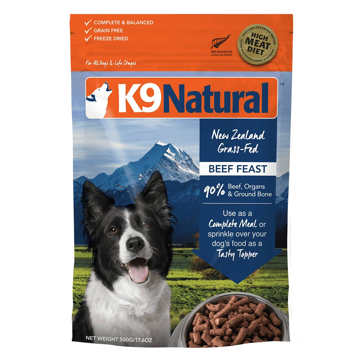 K9 Natural Beef Freeze Dried - 500g
