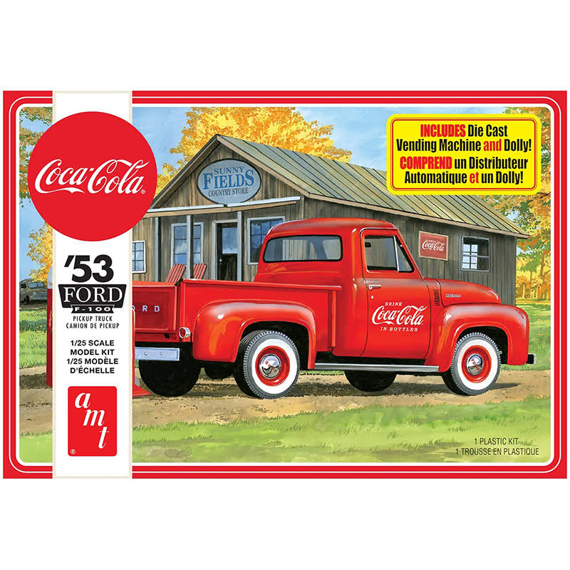 AMT 1144m 1953 Ford Pickup Coca Cola 2t Model Kit - 1/25 Scale
