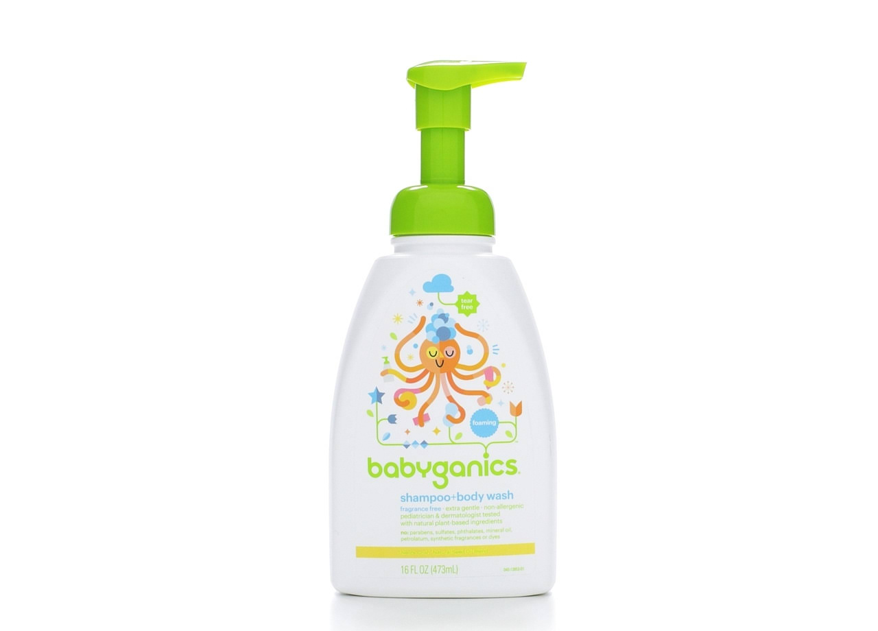 Babyganics Baby Shampoo & Body Wash, Fragrance Free - 16 oz bottle bottle