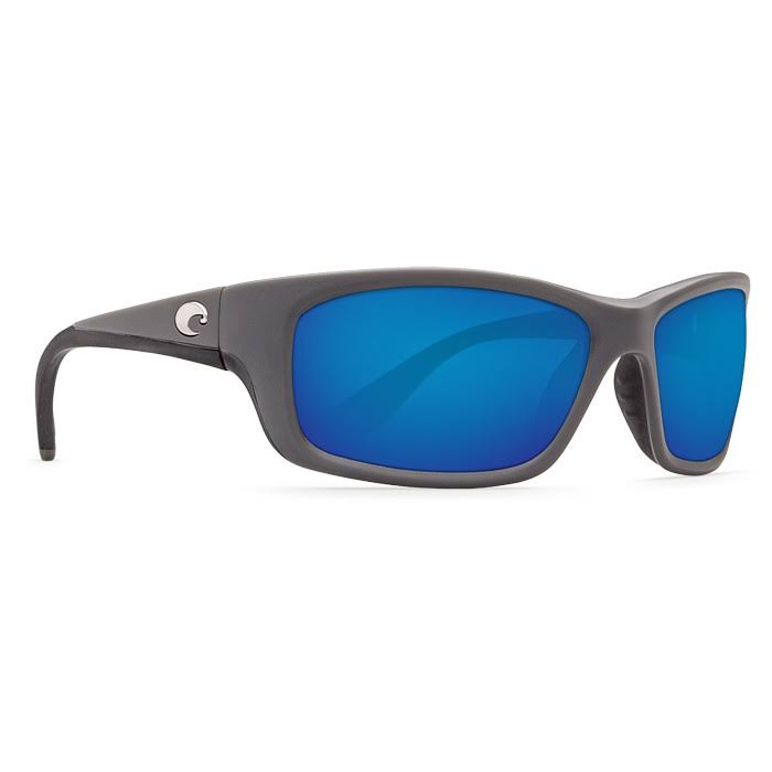Costa Del Mar Jose Rectangular Sunglasses - Matte Gray and Blue