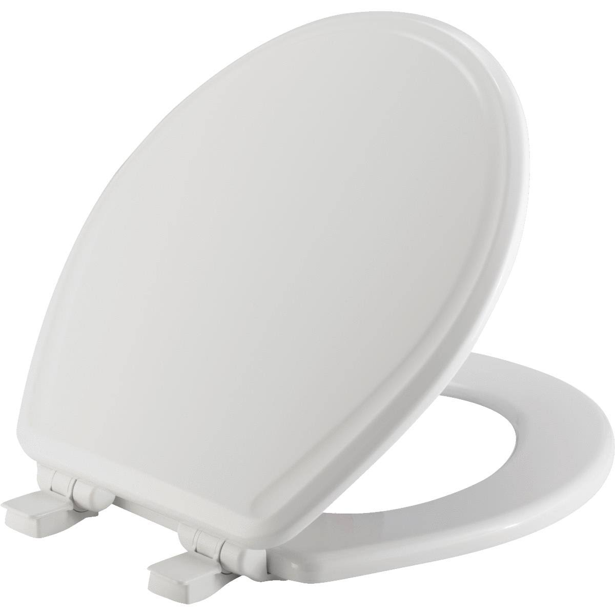 Mayfair 47SLOW-000 Slow Close Round Toilet Seat - White