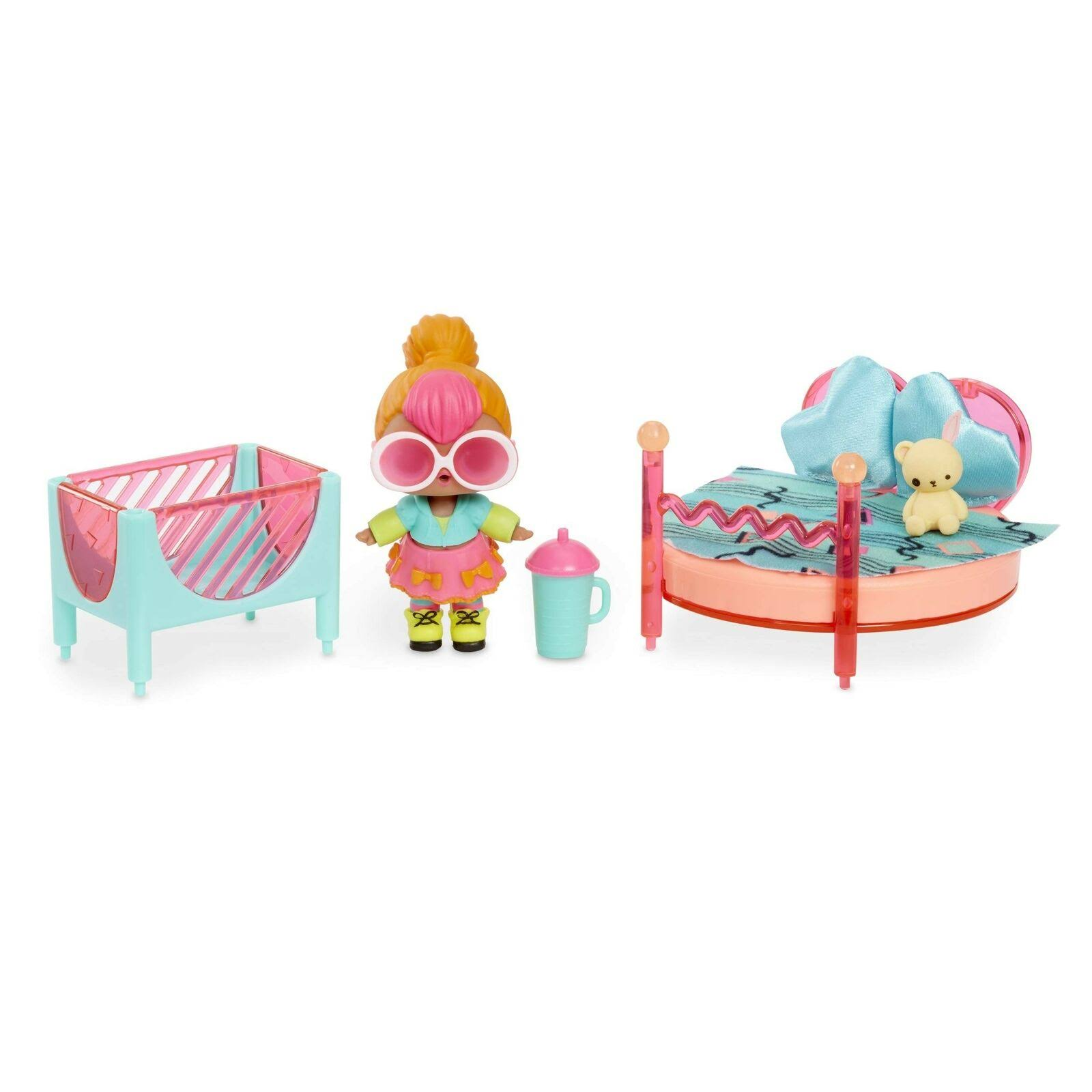 Lol Surprise House Bedroom Furniture Playset - with Neon Q.T Doll