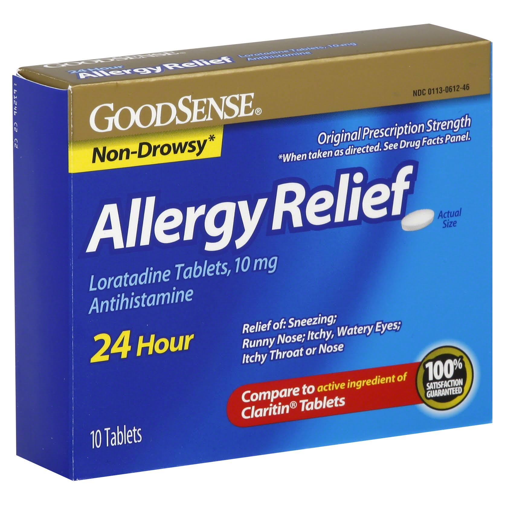 GoodSense Non Drowsy Allergy Relief Loratadine Antihistamine - 10 tablets