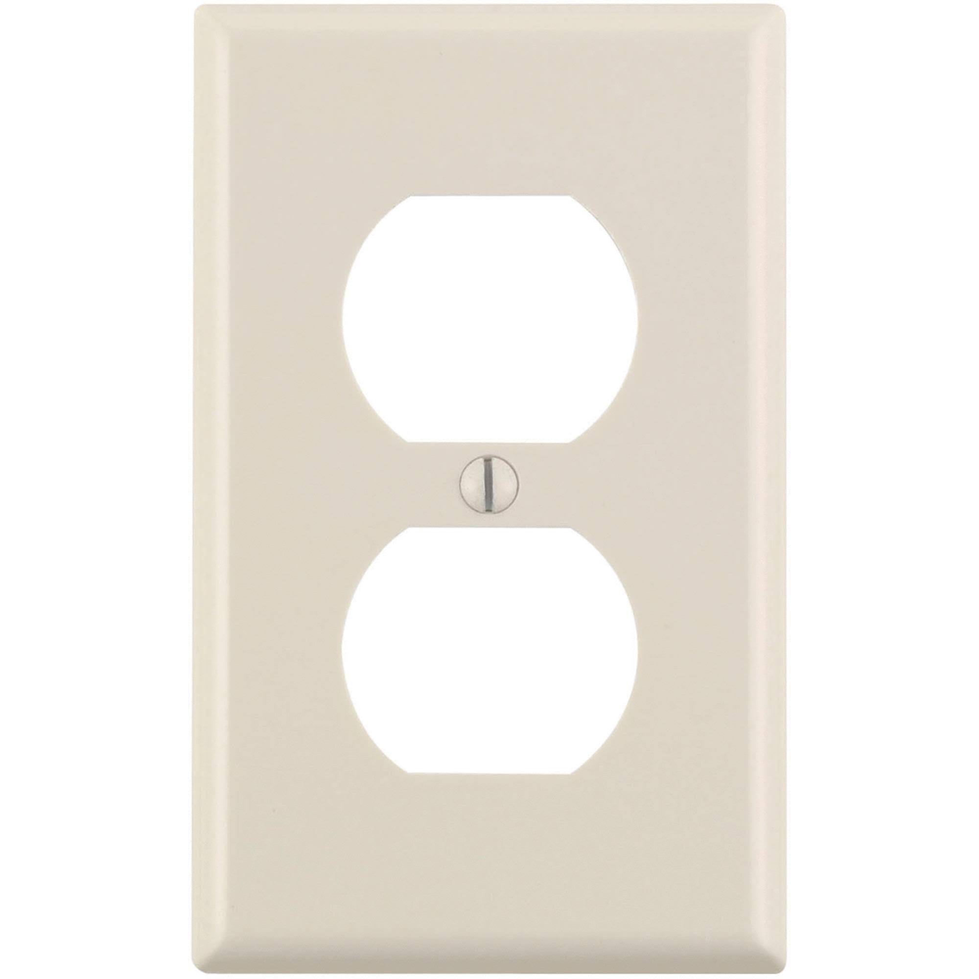 Leviton 1-Gang Duplex Outlet Wall Plate - Light Almond