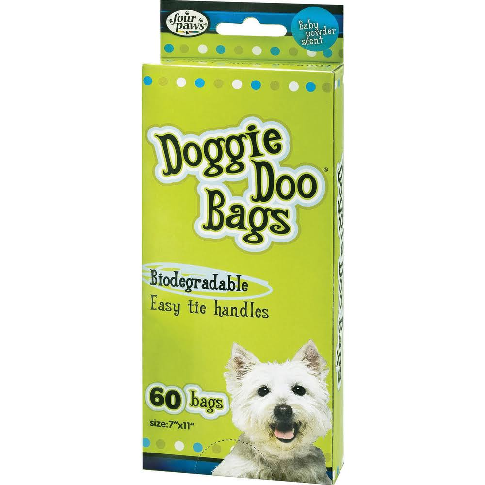 "Four Paws Wee-Wee Disposable Bags - 7"" X 11"", 60 Count"