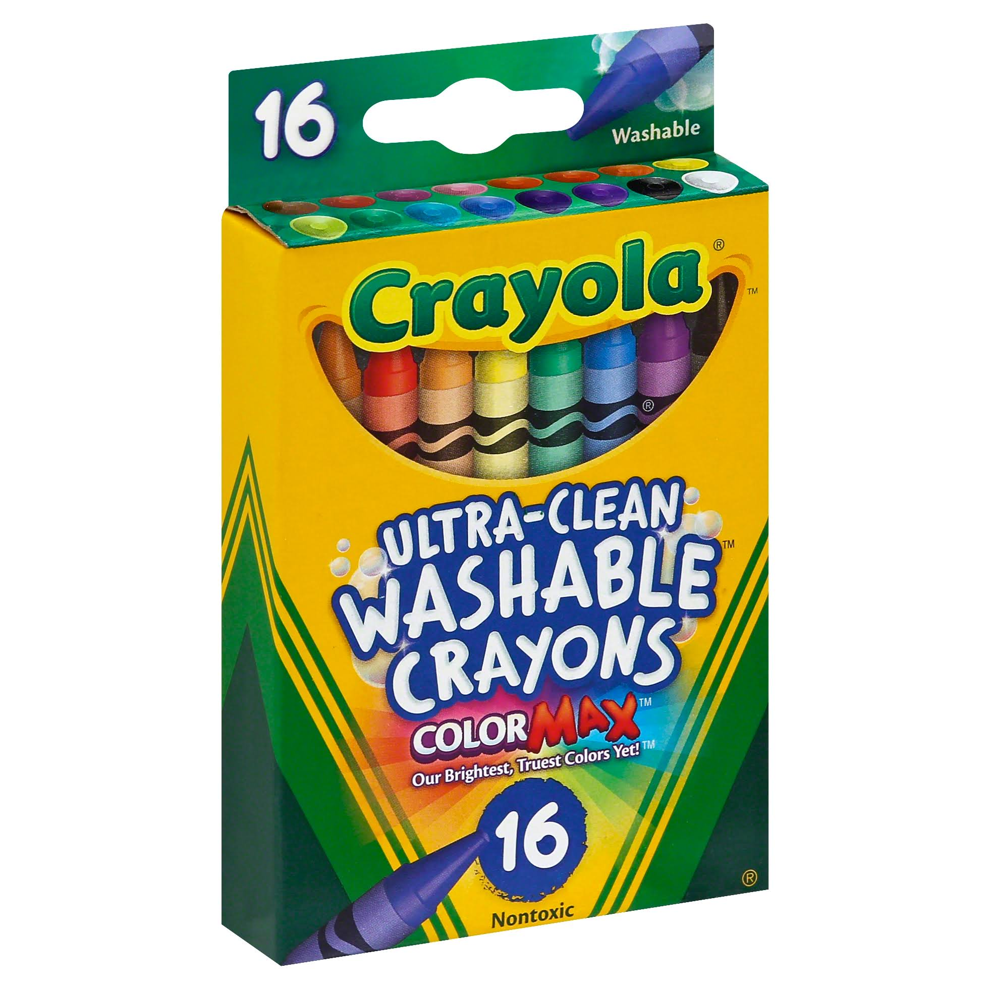 Crayola Washable Crayon - 16 Pack