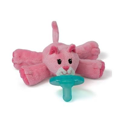 WubbaNub Infant Plush Toy Pacifier - Pink Kitty