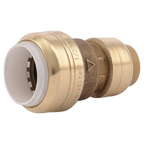 "SharkBite UIP4008A Push to Connect Brass Coupling - 1/2"" x 1/2"""