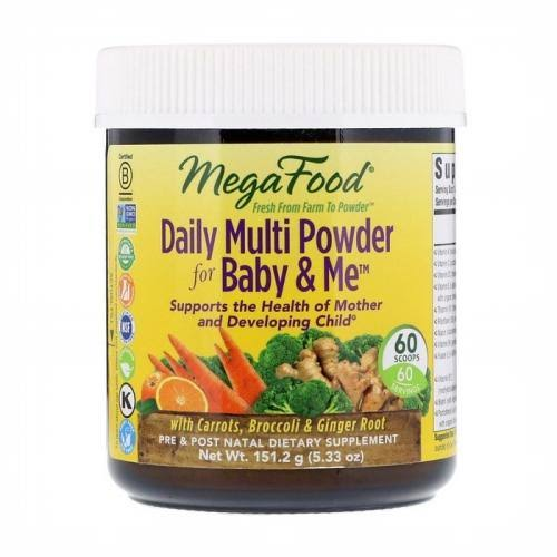 MegaFood - Daily Multi Powder for Baby & Me - 5.33 oz (151.2 Grams)