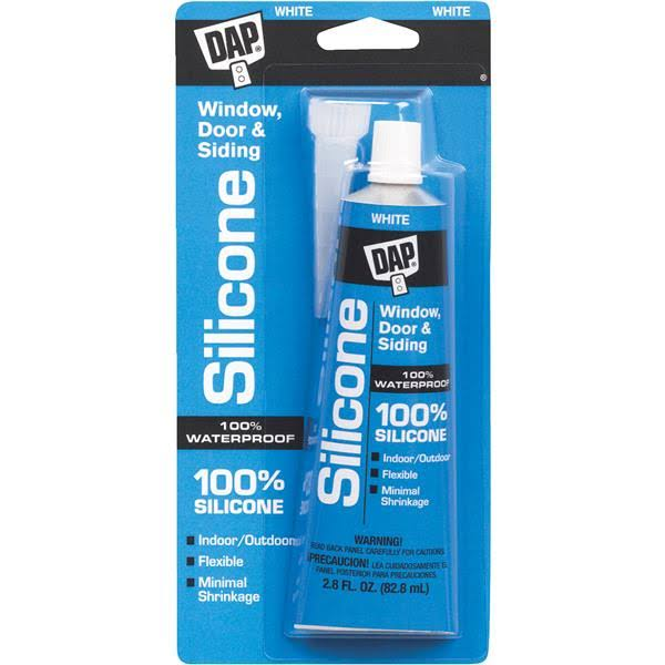 Dap Silicone Rubber Sealant - White, 82.8ml